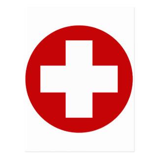 Swiss Red Cross Emergency Roundell Postcard