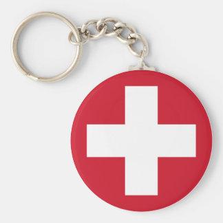 Swiss Roundel Keychain