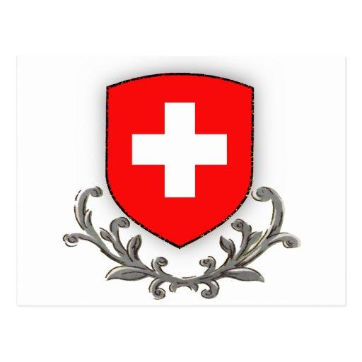Swiss Scroll Postcard