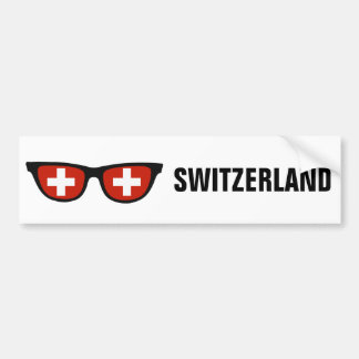 Swiss Shades custom text & color bumpersticker Bumper Sticker