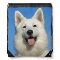 Swiss Shepherd Dog Drawstring Backpack