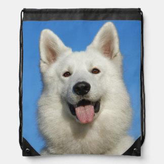 Swiss Shepherd Dog Drawstring Backpack