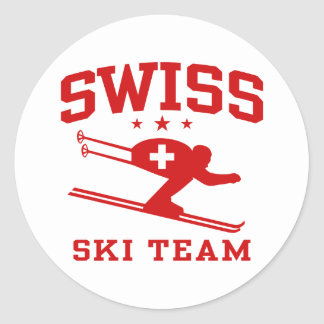 Swiss Ski Team Classic Round Sticker