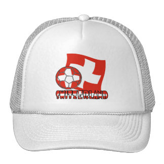 Swiss Soccer Ball and Flag Trucker Hat