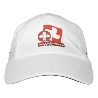 Swiss Soccer Ball and Flag Headsweats Hat