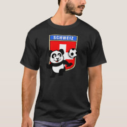 Swiss Football Panda Men's Basic Dark T-Shirt