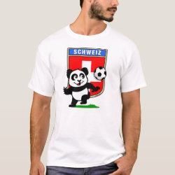Men's Basic T-Shirt with Swiss Football Panda design