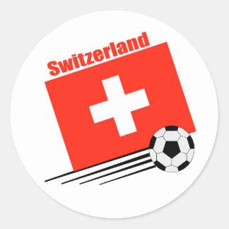 Swiss Soccer Team Classic Round Sticker