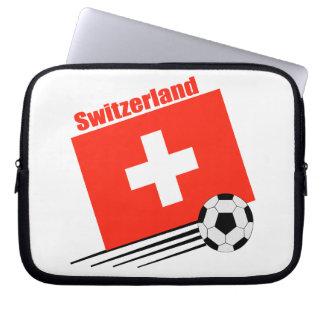 Swiss Soccer Team Laptop Sleeve