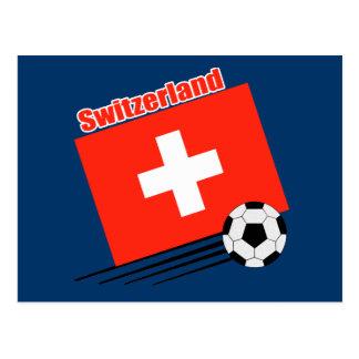 Swiss Soccer Team Postcard