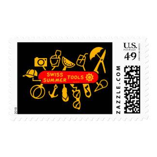 Swiss Summer Knife Postage Stamp