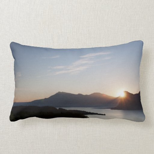 Swiss sunrise photography cushion pillows