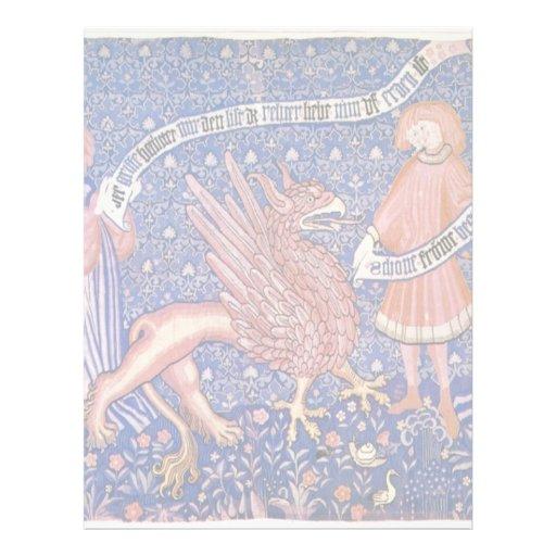 Swiss Tapestry Fragment By Schweizer Tapisseur Letterhead