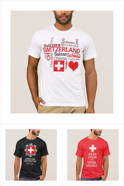 Swiss Theme T-Shirts