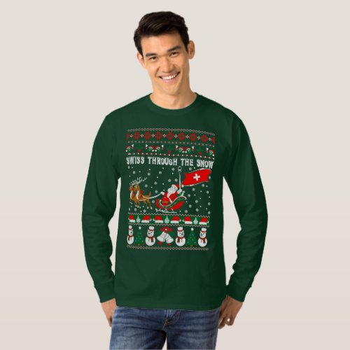 Swiss Through The Snow Ugly Christmas Sweater After Christmas Sales 2464