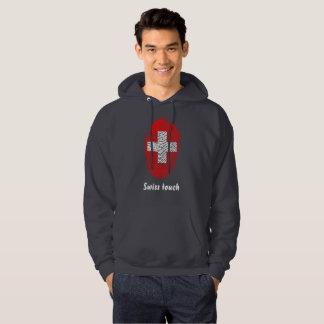 Swiss touch fingerprint flag hoodie
