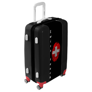 Swiss touch fingerprint flag luggage
