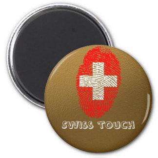 Swiss touch fingerprint flag magnet