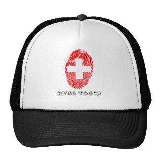 Swiss touch fingerprint flag trucker hat