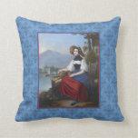 Swiss Traditional Costume Antique Print Bern Pillows