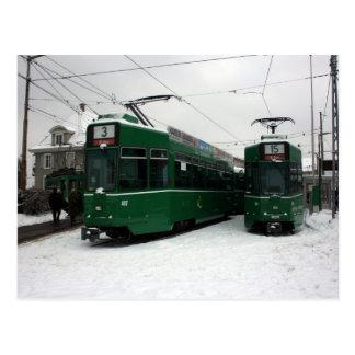 Swiss trams at BVB M-Parc depot, Basel Post Card