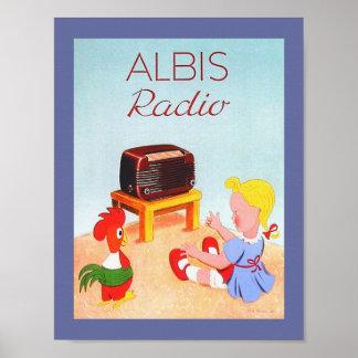 Swiss Vintage Radio Ad Image for Albis Radios Poster