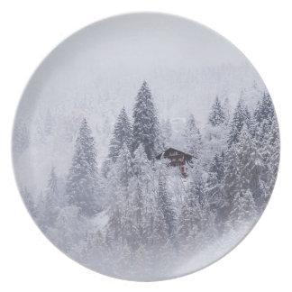 Swiss Winter Melamine Plate