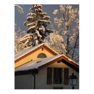 Swiss Winter Post Card