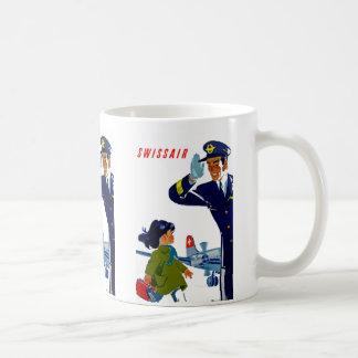 Swissair Little Girl Classic White Coffee Mug