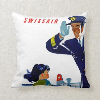 Swissair Little Girl Pillow