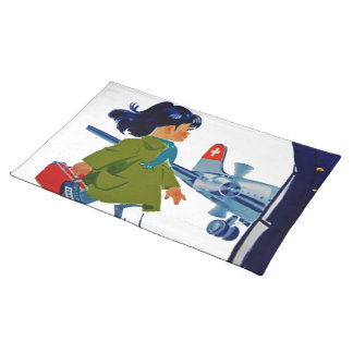 Swissair Little Girl Placemat