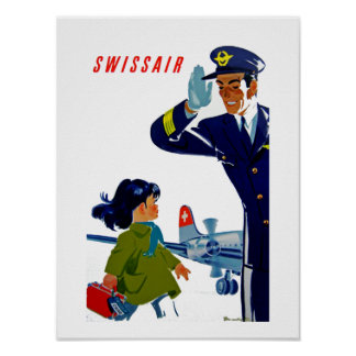 Swissair Little Girl Poster