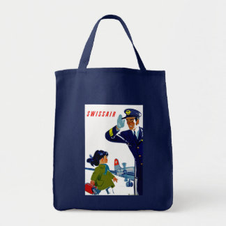 Swissair Little Girl Tote Bag