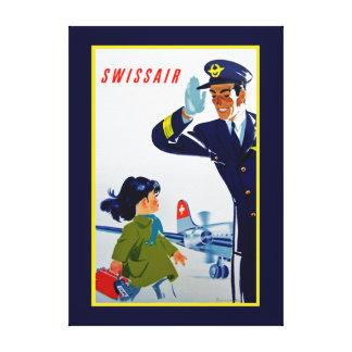 Swissair Little Girl - XL Canvas Print