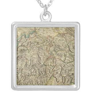 Swisserland - mapa del atlas de Suiza Colgante Cuadrado
