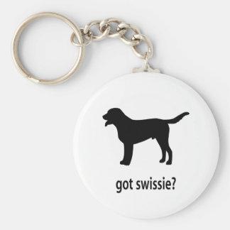 Swissie conseguido llavero redondo tipo pin