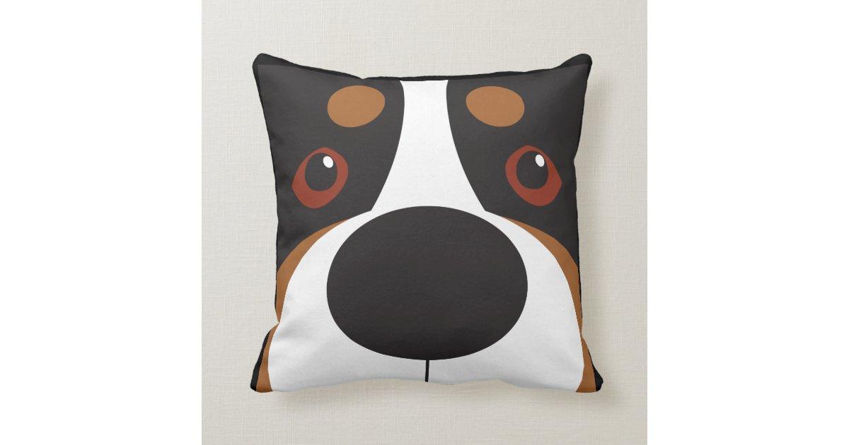 Swissy-Face Throw Pillow Zazzle