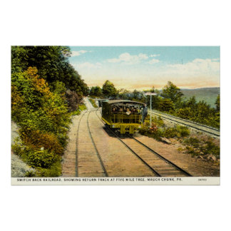 Switch Back Railroad, Mauch Chunk PA 1925 Vintage Poster