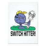 Switch Hitter 5x7 Paper Invitation Card