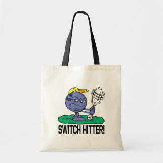 Switch Hitter Tote Bags