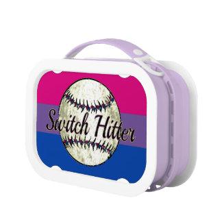 Switch Hitter Bi Pride Bi Humor Lunch Box