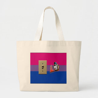 """Switch Hitter"" Bisexual Pride Tote Bags"