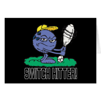 Switch Hitter Greeting Card