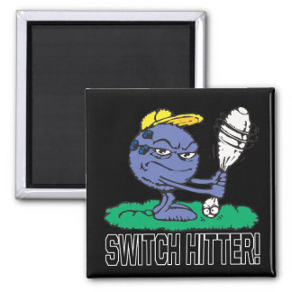 Switch Hitter 2 Inch Square Magnet