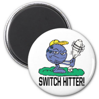 Switch Hitter 2 Inch Round Magnet