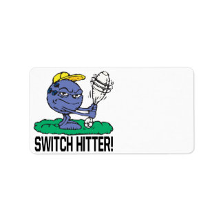 Switch Hitter Personalized Address Labels