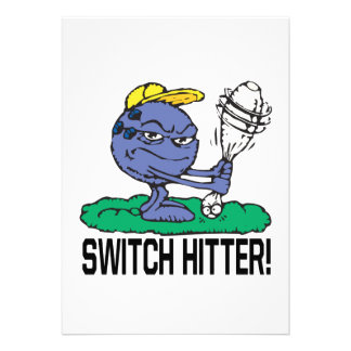 Switch Hitter Personalized Announcement