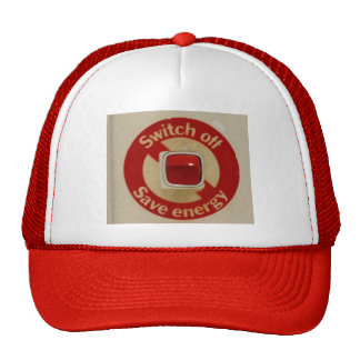 SWITCH OFF SAVE ENERGY cap Hats