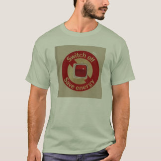 Switch off save energy T-shirt