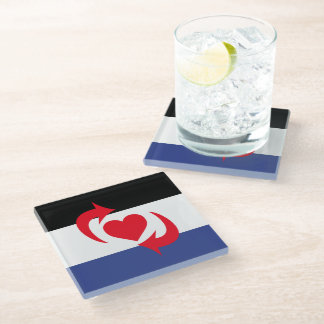 Switch Pride Glass Coaster